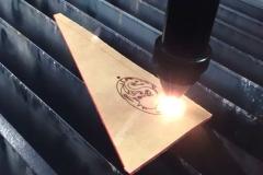 Процесс лазерной гравировки по металлу