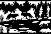 Эскиз фрагмента изгороди