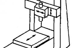Компоновка двухстоечного вертикального координатно-расточного станка