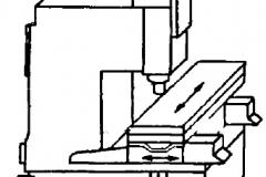 Компоновка одностоечного вертикального координатно-расточного станка