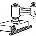 Радиально-сверлильный станок установленный на рельсы