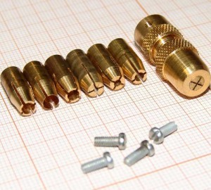 Цанги на вал 2 мм (0,1-3 мм) для микродерели