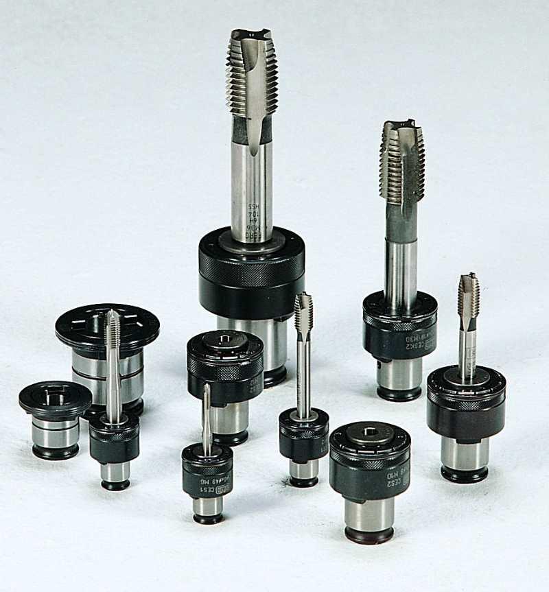 Резьбонарезные предохранительные головки с метчиками
