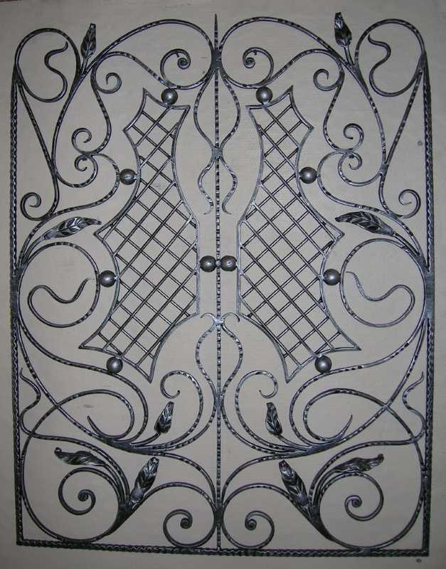 Оконная решетка с оригинальным дизайном