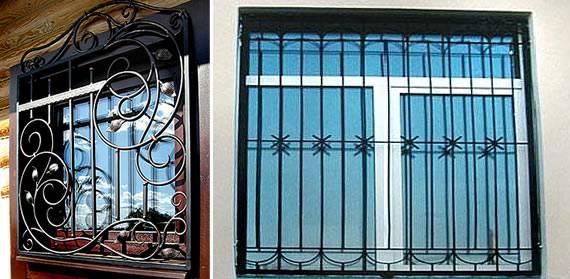 Легкие кованые решетки на окнах