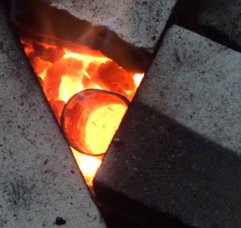 Самодельный горн для плавки алюминия