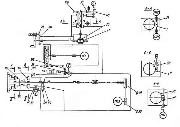 Кинематическая схема 3Л722В