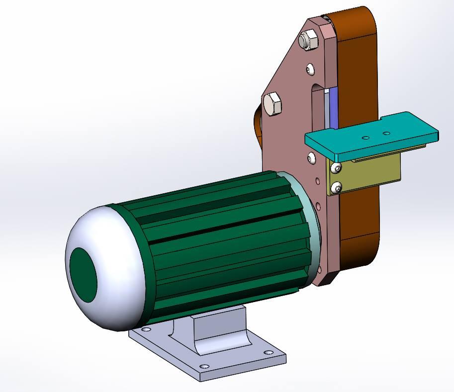 Модель самодельного ленточно-шлифовального станка Гриндер