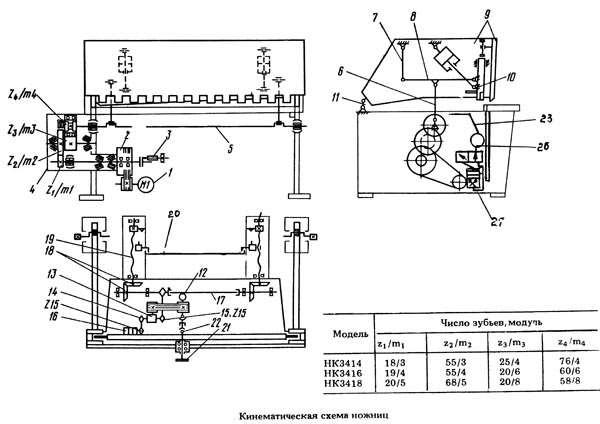 Кинематическая схема НК3418