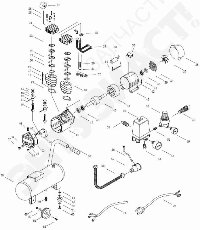 Взрыв-схема компрессора