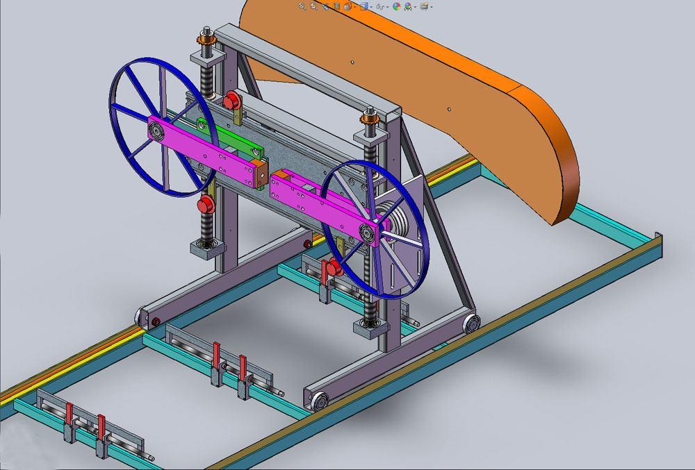 3d-модель ленточной пилорамы