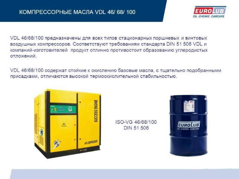 Информация о компрессорном масле VDL