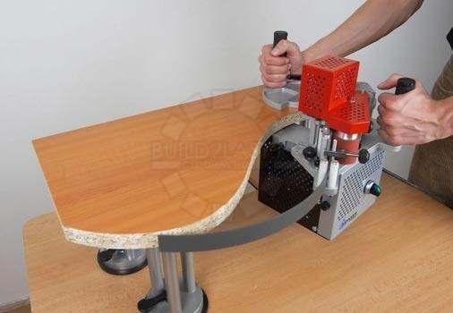 Приклеивание кромки на криволинейной поверхности ручным кромкооблицовочным станком