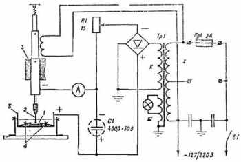 Схема электроискрового станка