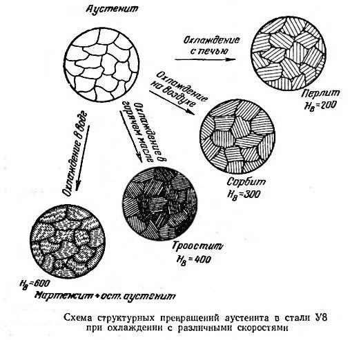Схема структурных превращений У8