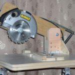 Самодельная модель, изготовленная на основе дисковой пилы
