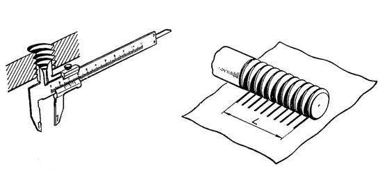 Измерение внутренний резьбы и оттиск ниток резьбы