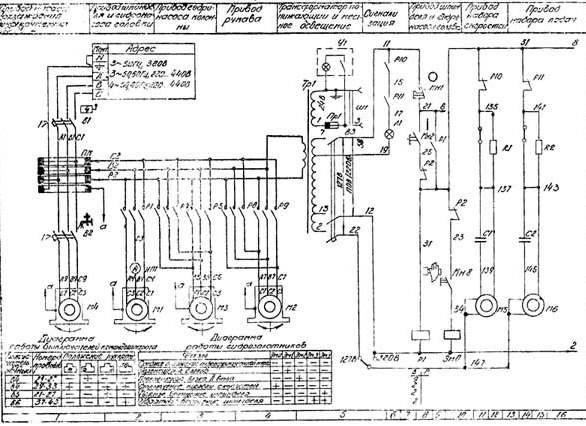 Электрическая схема станка 2М55
