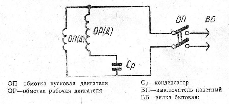 Электрическая схема станка