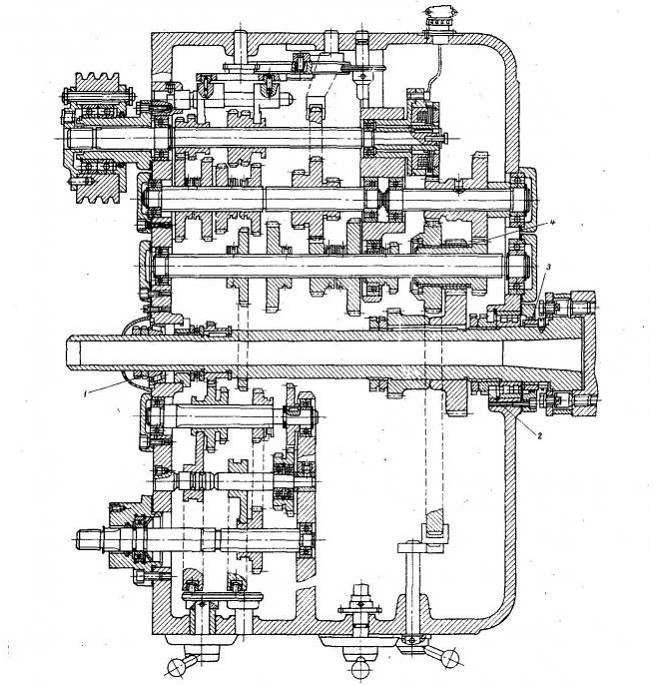 Коробка скоростей станка 1М61