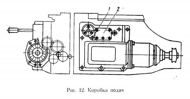 Коробка подач станка 6Р82