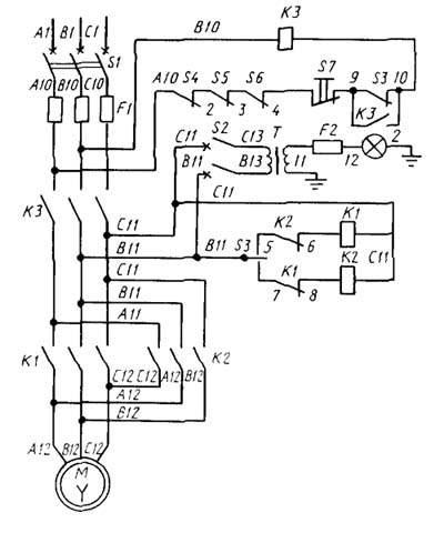 Электрическая схема станка ТВ-11