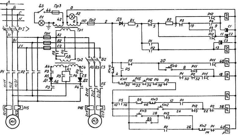 Электрическая схема 2Н135