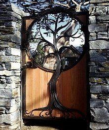 Волшебный орнамент в виде дерева для кованой калитки