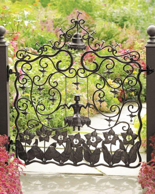Эксклюзивная кованая калитка для великолепного сада