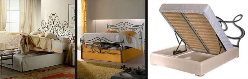 Кованые кровати с подъемным механизмом