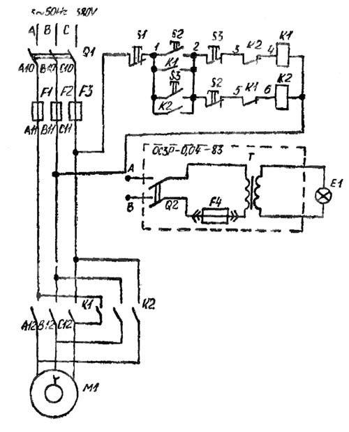 Электрическая схема настольно-сверлильного станка 2М112