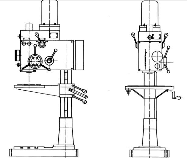 Общий вид вертикально-сверлильного станка 2С125
