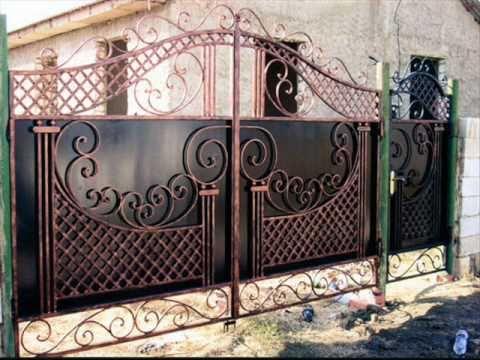 Ворота в кованом стиле для дачи