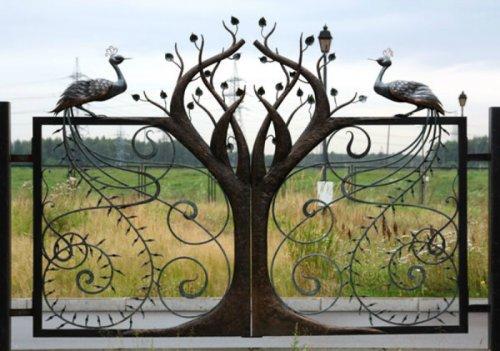 Оригинальные ворот кованые по индивидуальному заказу