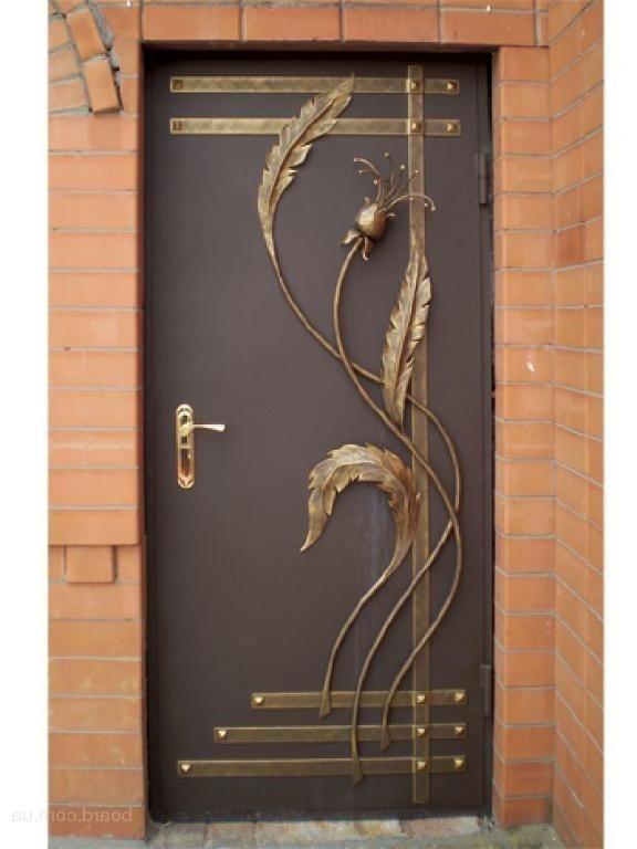 Кованая входная дверь своими руками