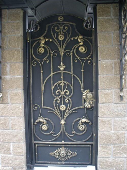 Кованая дверь без стекла