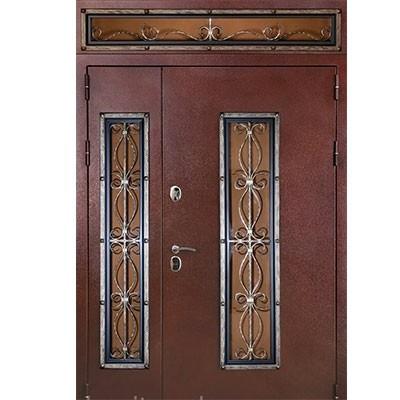 Кованые стальные двери с фрамугой