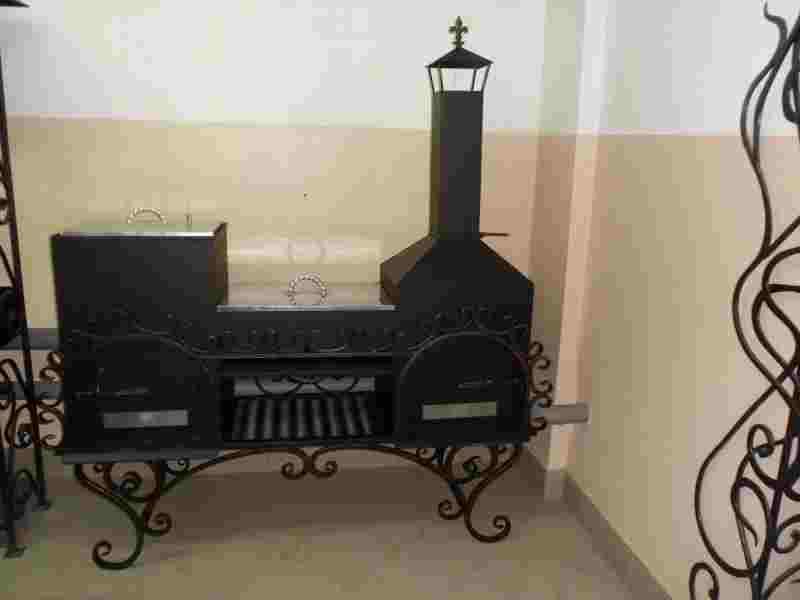 Универсальный мангал коптильня, казан и печка кованые