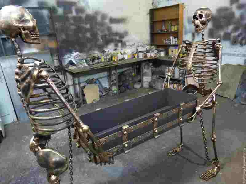 Кованые ножки скелеты для мангала