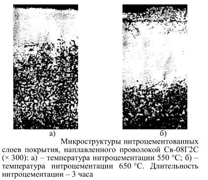 Микроструктура нитроцементованных слоев