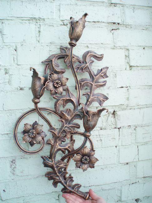 Кованая роза подсвечник в готическом стиле
