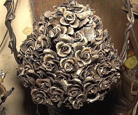 Кованые изделия розы