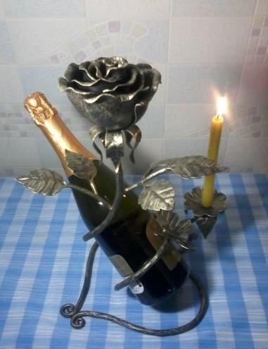 Кованые роза подставка для шампанского