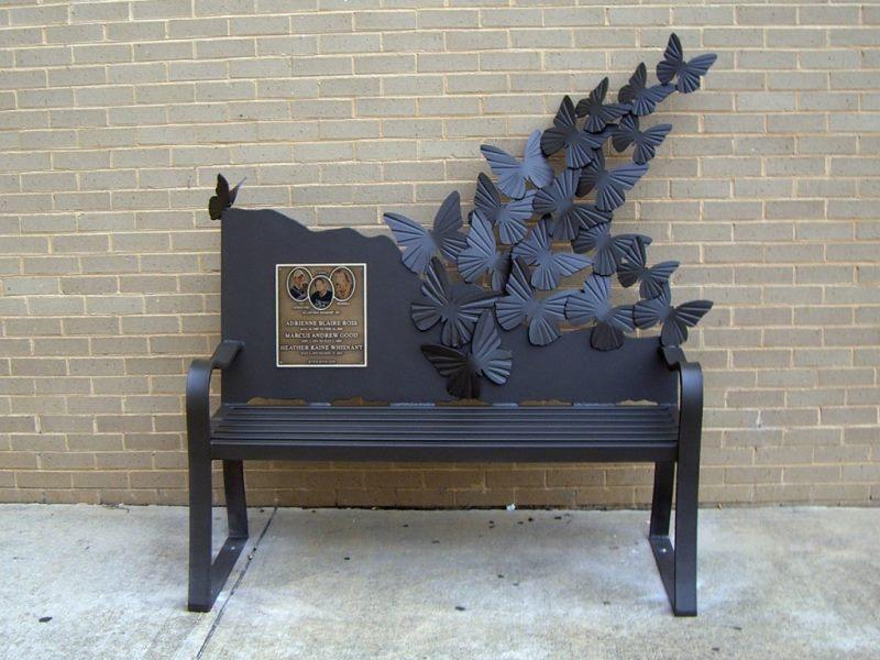 """Кованая скамейка бабочка """"на память"""""""
