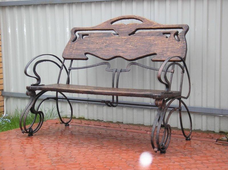 Кованые уличные изделия скамейка