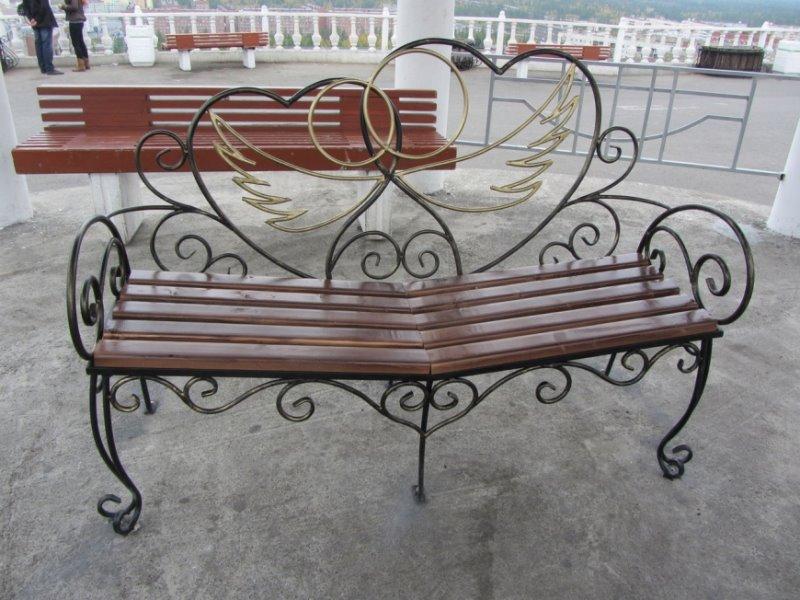 """Кованая ажурная скамейка """"Ангелы"""""""