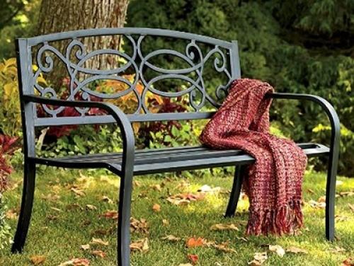 Парковая кованая скамейка прованс