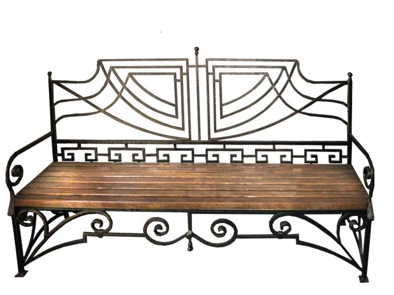 Скамейки с коваными спинками