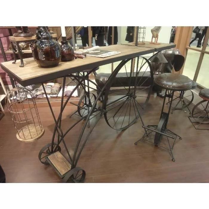 Подстолье кованое с колесами для стола
