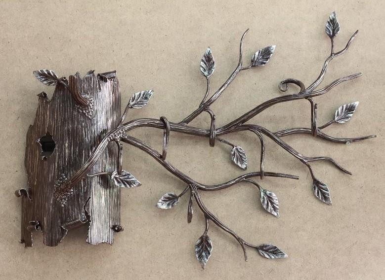 Кованое дерево вешалка